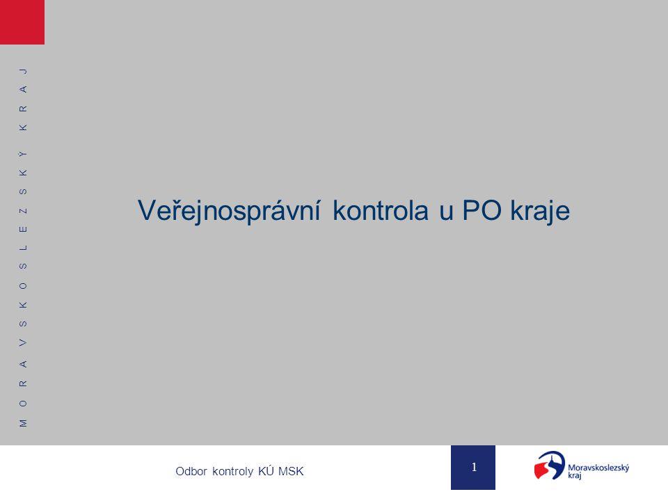 M O R A V S K O S L E Z S K Ý K R A J 1 Odbor kontroly KÚ MSK Veřejnosprávní kontrola u PO kraje