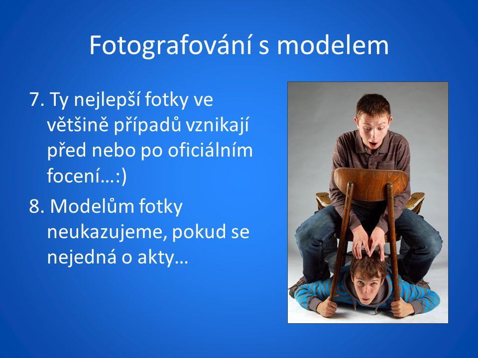 Fotografování s modelem 7.