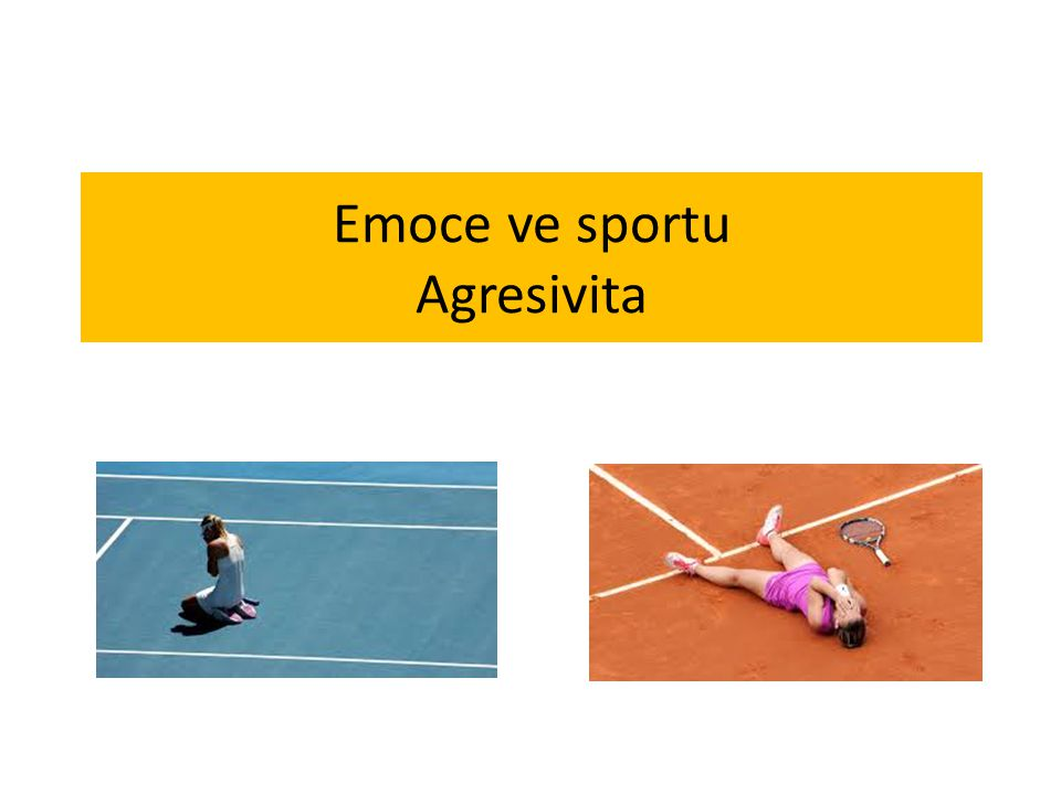 Emoce ve sportu Agresivita