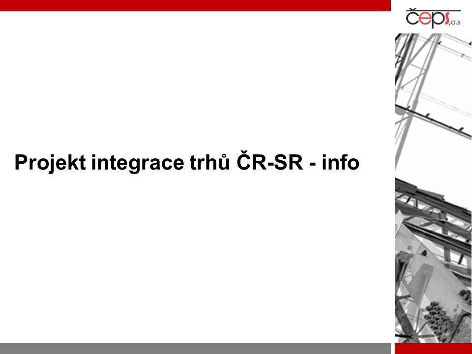 Projekt integrace trhů ČR-SR - info