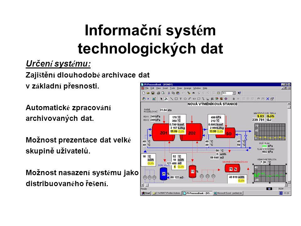 Informačn í syst é m technologických dat Určen í syst é mu: Zaji š těn í dlouhodob é archivace dat v z á kladn í přesnosti. Automatick é zpracov á n í