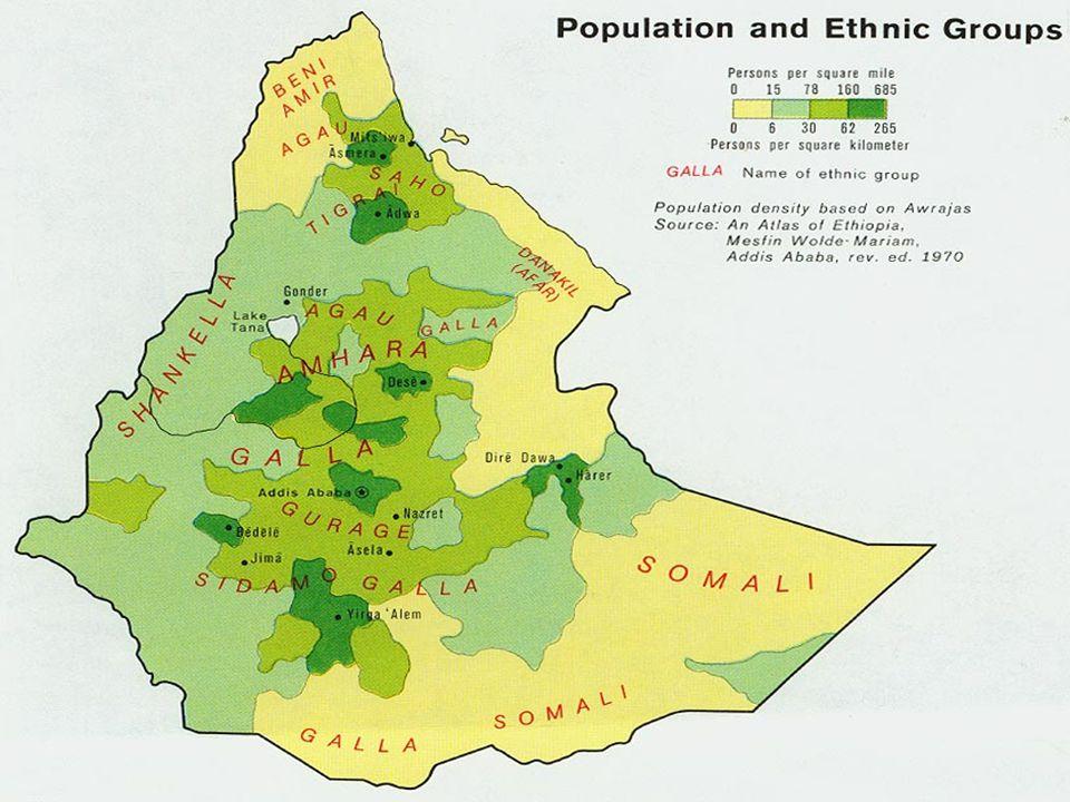 Obyvatelstvo Počet obyvatel - 67 851 281 Národnostní složení:Náboženství: Amharové 38 %etiopská ortodoxní církev 50 % Gallové 35 %muslimové 40 % Tigra