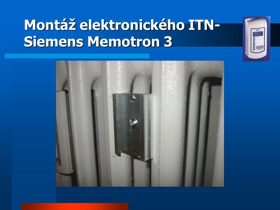 Montáž elektronického ITN- Siemens Memotron 3