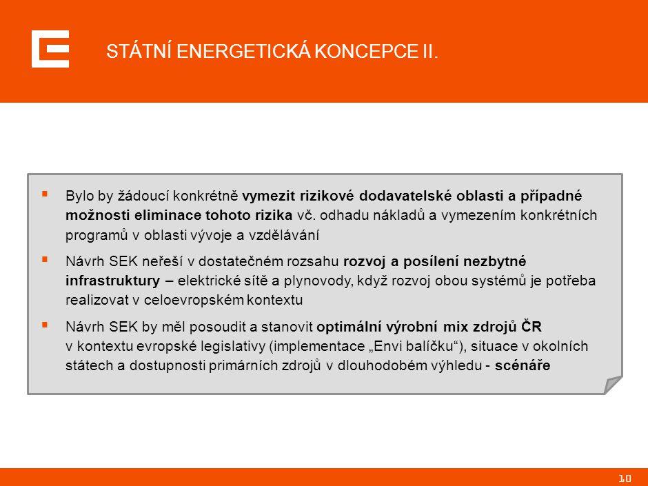 10 STÁTNÍ ENERGETICKÁ KONCEPCE II.