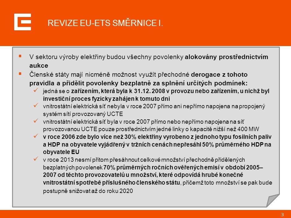 3 REVIZE EU-ETS SMĚRNICE I.