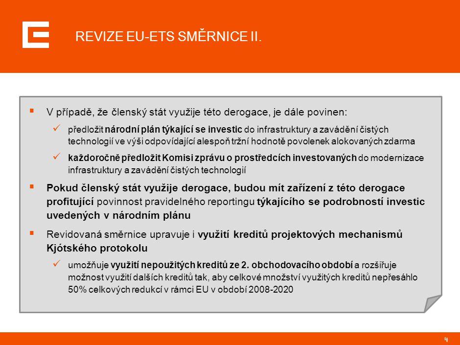 4 REVIZE EU-ETS SMĚRNICE II.