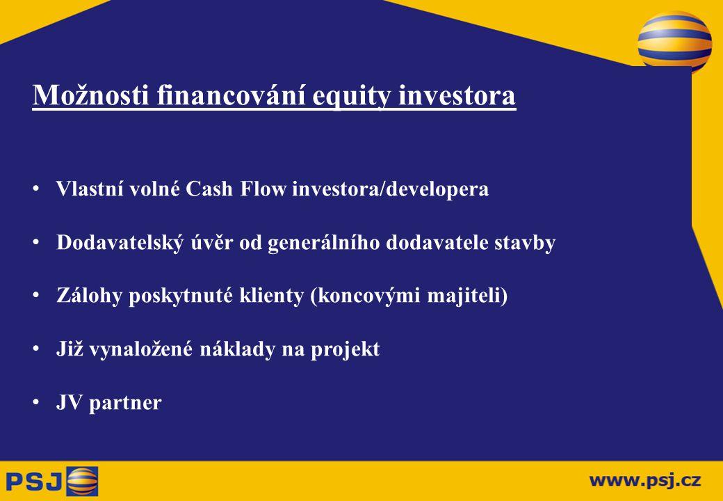 Typy externího (projektového) financování Senior Loan Mezzanine Loan Exportní financování Problematika financování VAT (DPH) Významné stavby v realizaci