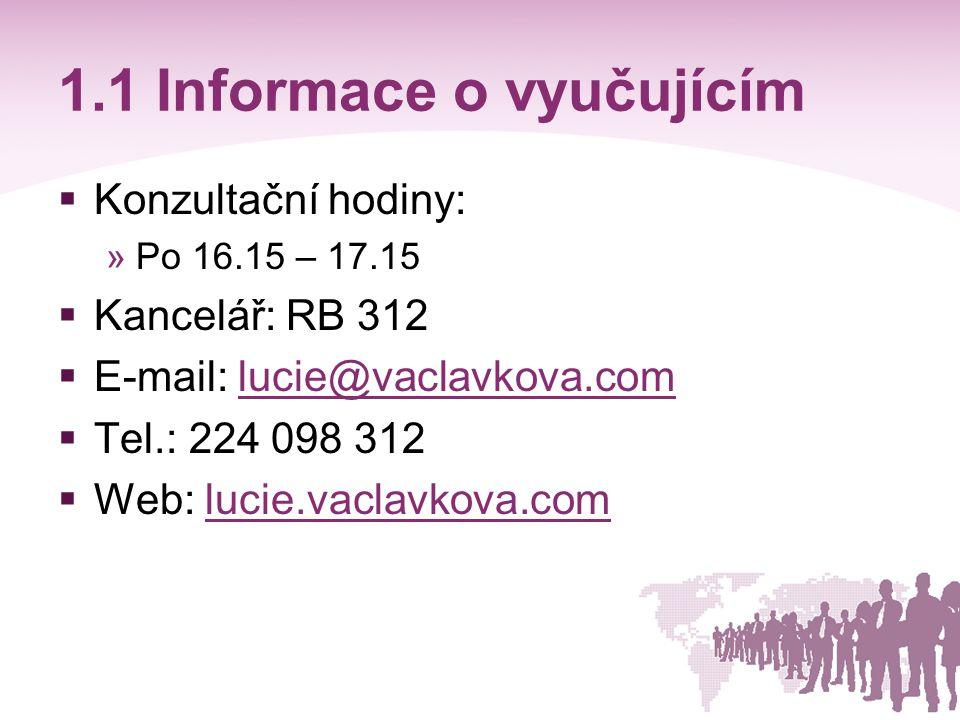 1.2 Informace o předmětu  Program přednášek (.doc).doc  Program cvičení a požadavky na ukončení předmětu (.doc).doc