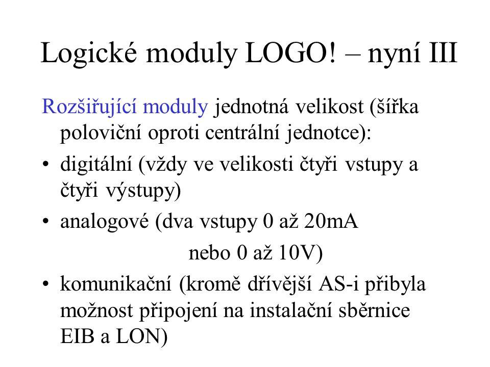 Logické moduly LOGO.