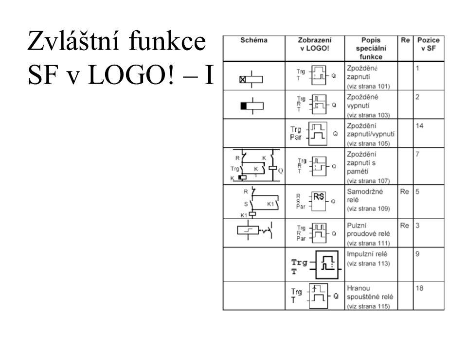 Zvláštní funkce SF v LOGO! – I