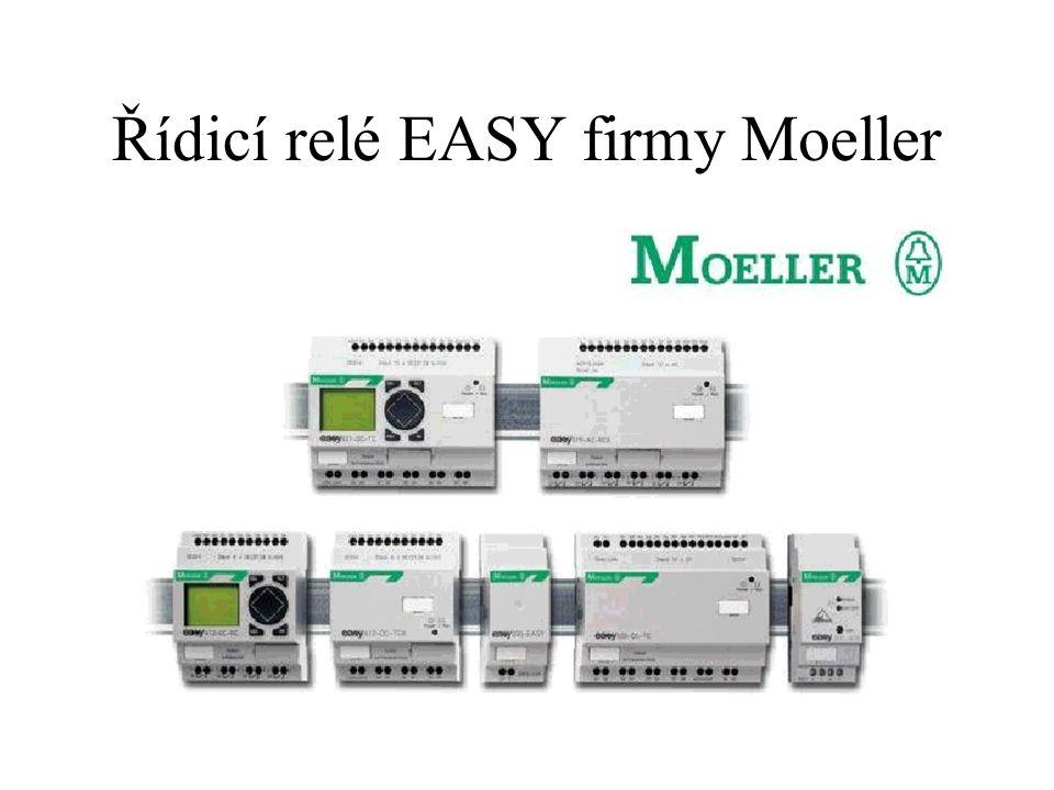 Řídicí relé EASY firmy Moeller- možnost spojování modulů