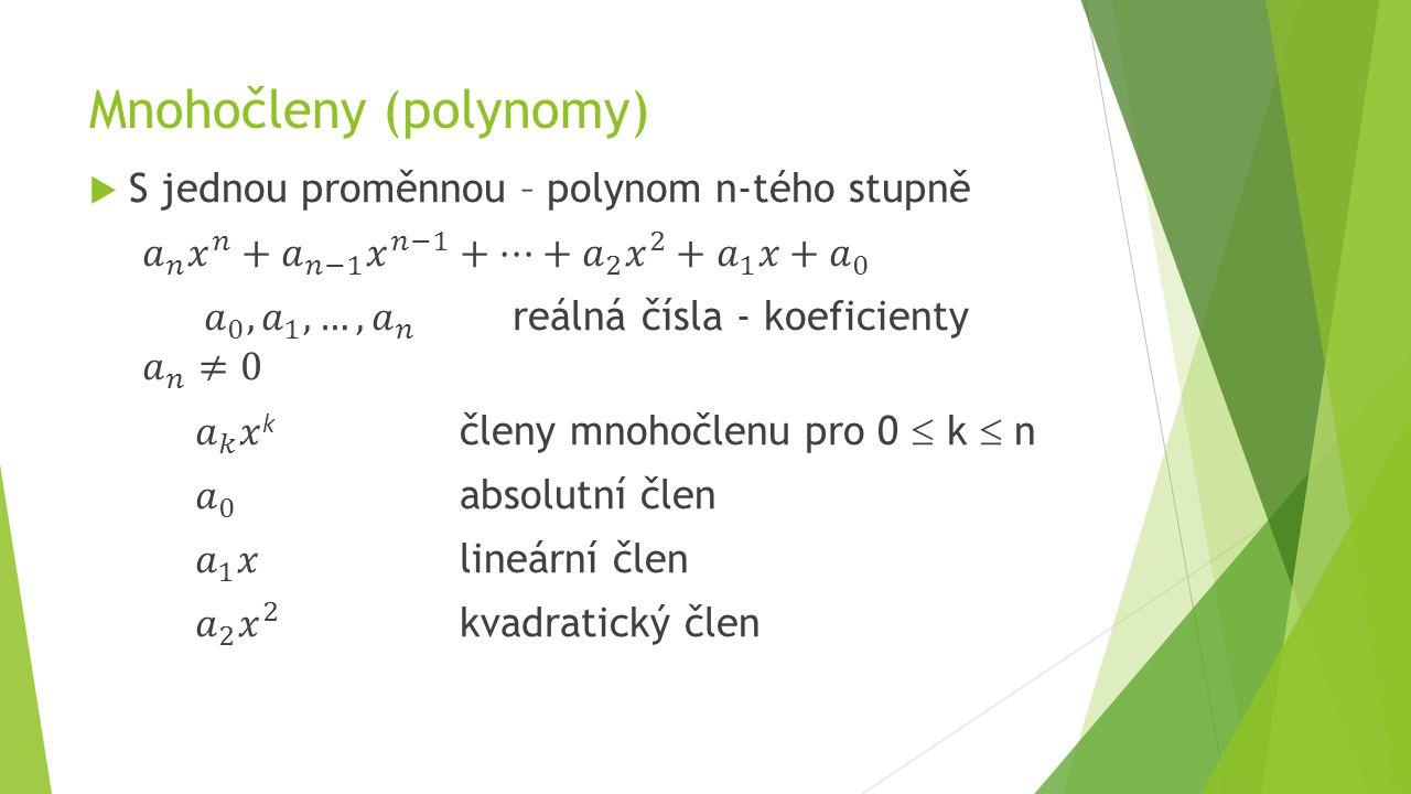 Mnohočleny (polynomy)