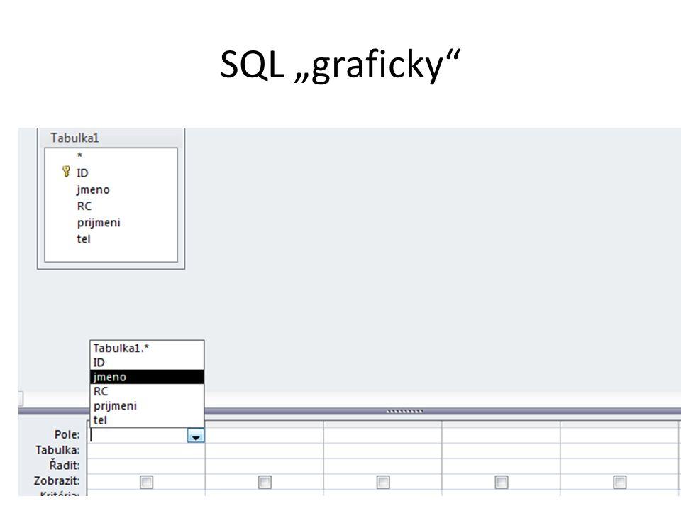 """SQL """"graficky"""