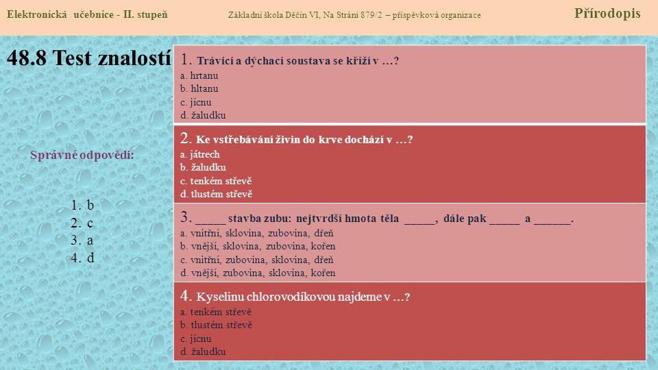 48.8 Test znalostí Elektronická učebnice - II.