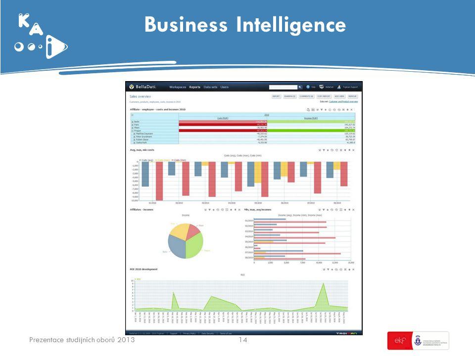 Business Intelligence 14Prezentace studijních oborů 2013