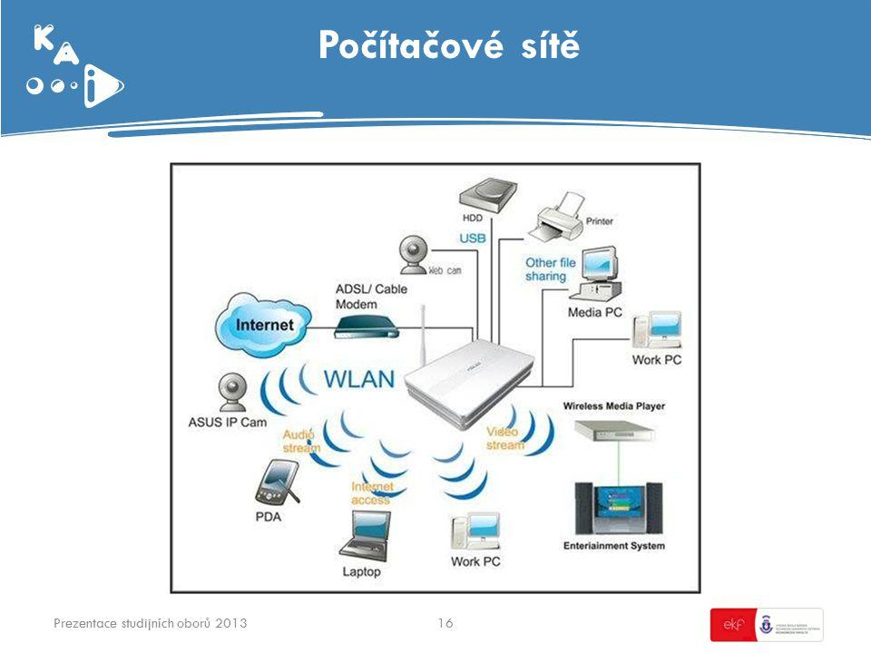Počítačové sítě 16Prezentace studijních oborů 2013