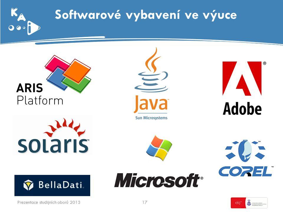 Softwarové vybavení ve výuce 17Prezentace studijních oborů 2013