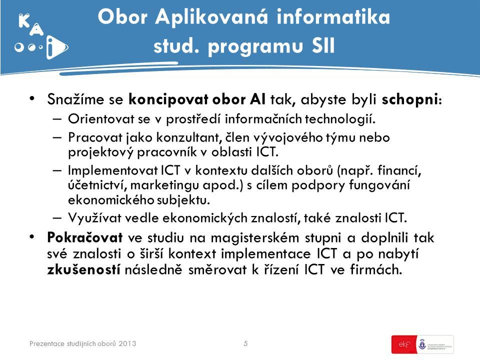 Obor Aplikovaná informatika stud.