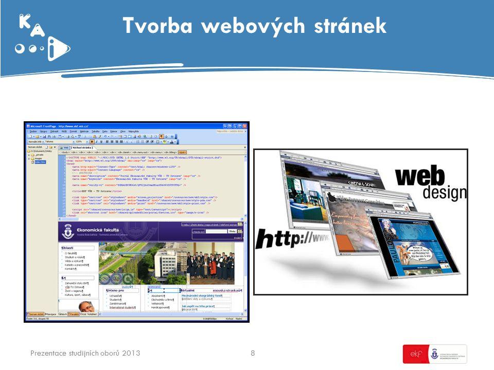 Tvorba webových stránek 8Prezentace studijních oborů 2013