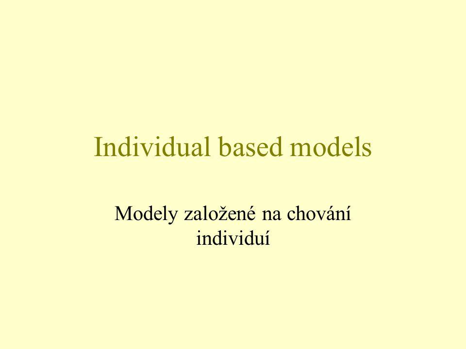 Individual based models Modely založené na chování individuí