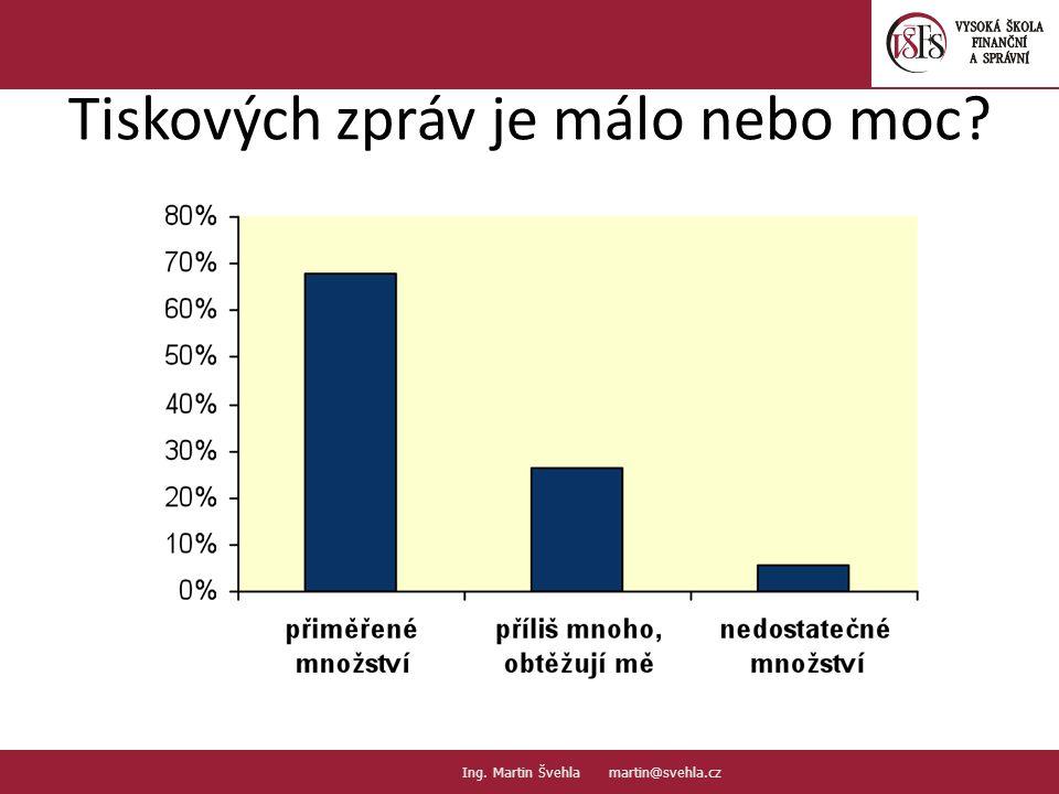Tiskových zpráv je málo nebo moc. 16. PaedDr.Emil Hanousek,CSc., 14002@mail.vsfs.cz :: Ing.