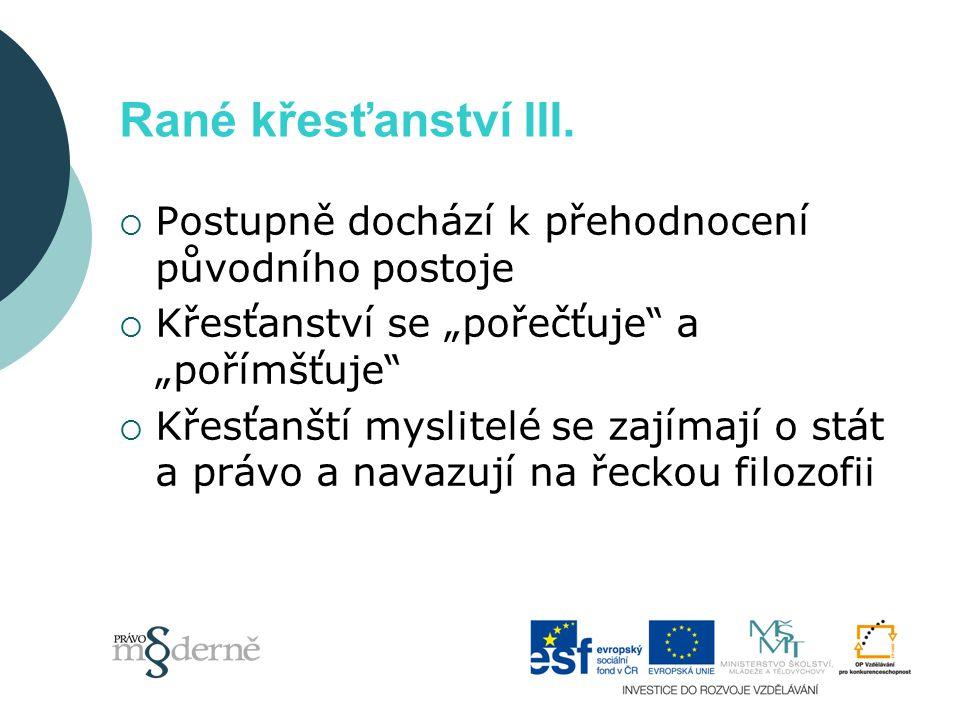 Patristika (2.– 7. stol.) I.  Ve 2.
