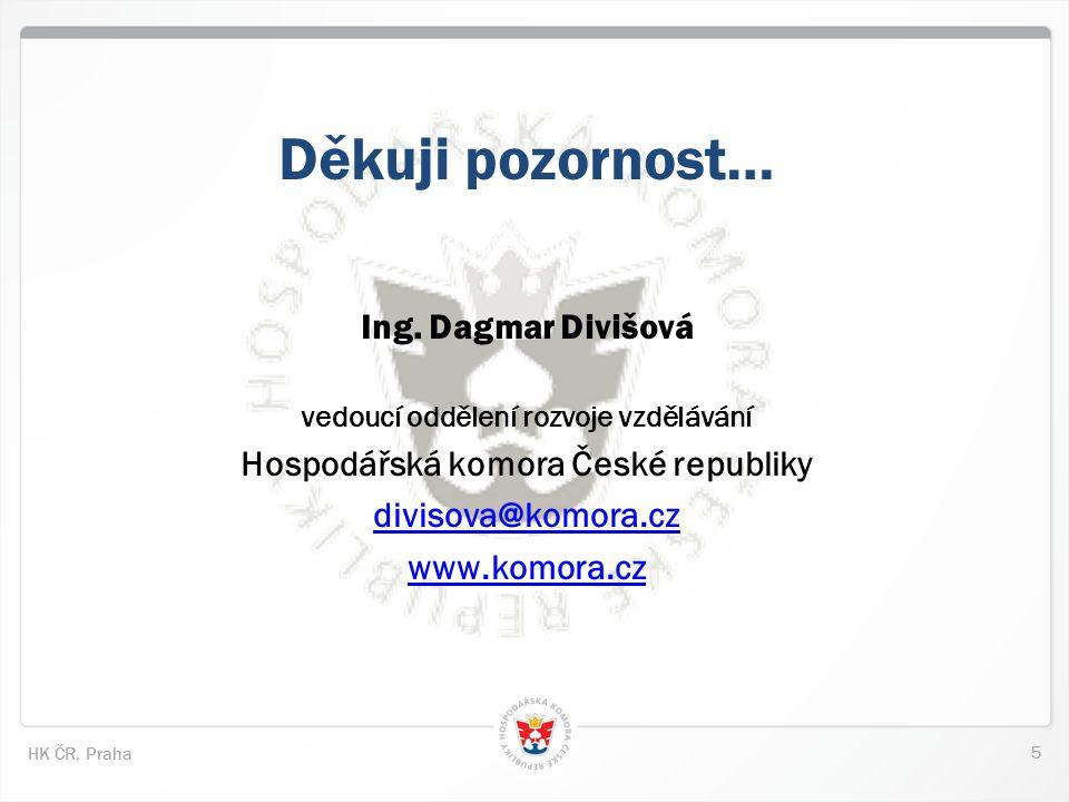 5 HK ČR, Praha Děkuji pozornost… Ing.