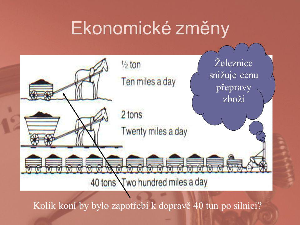 Ekonomické změny Kolik koní by bylo zapotřebí k dopravě 40 tun po silnici.