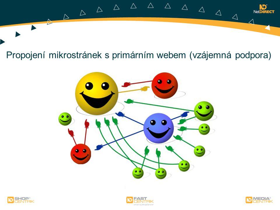 Propojení mikrostránek s primárním webem (vzájemná podpora)