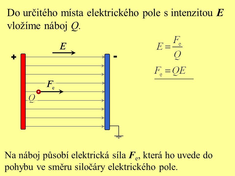 Vložíme-li do homogenního elektrického pole kladný bodový elektrický náboj: a) začne na něj působit elektrická síla, b) bude se pohybovat ve směru siločáry, c) elektrické pole jeho pohybový stav neovlivní, d)bude se pohybovat proti směru siločáry.