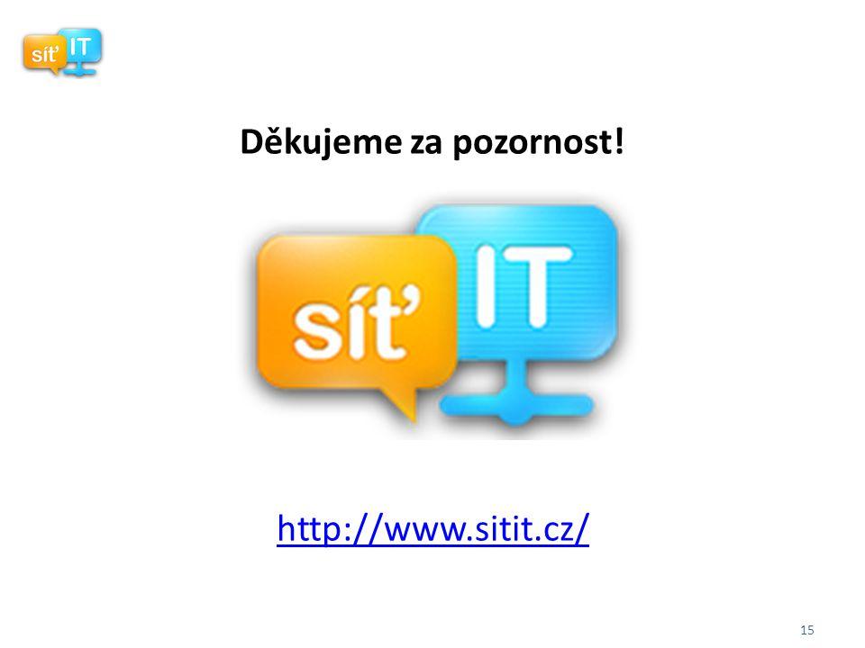 15 Děkujeme za pozornost! http://www.sitit.cz/