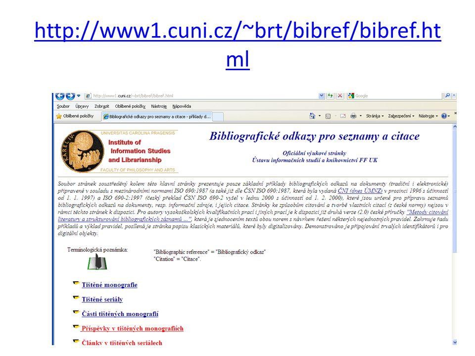 http://www1.cuni.cz/~brt/bibref/bibref.ht ml 10