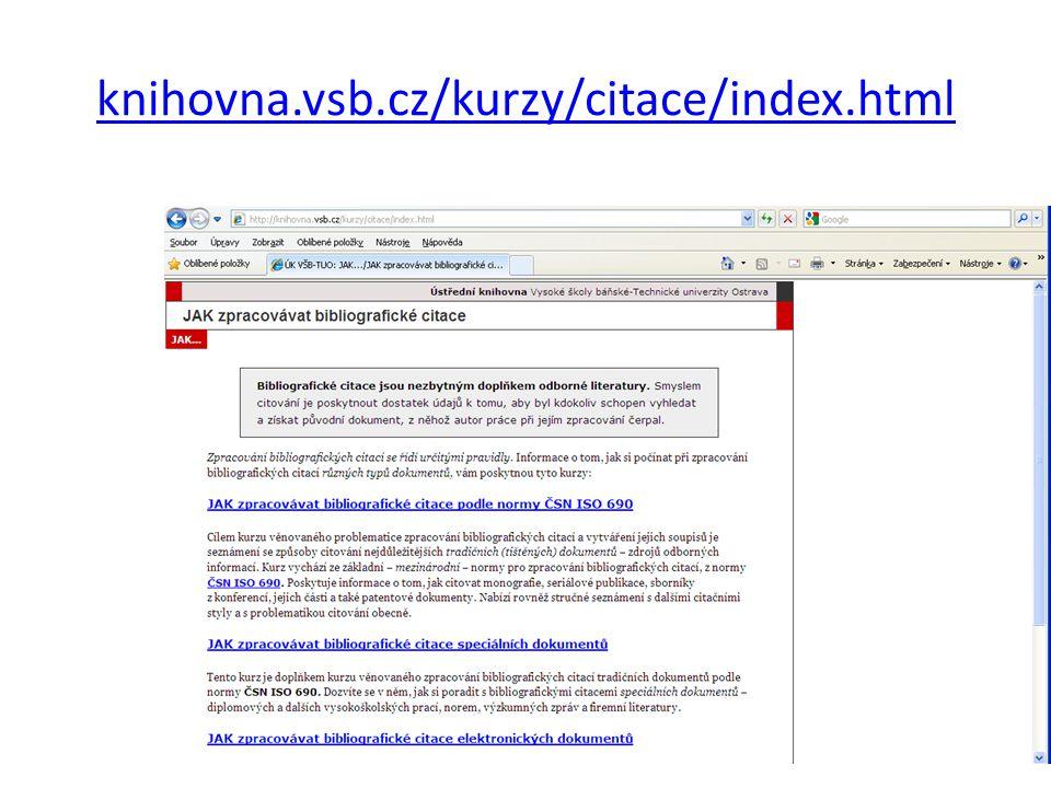 knihovna.vsb.cz/kurzy/citace/index.html 13
