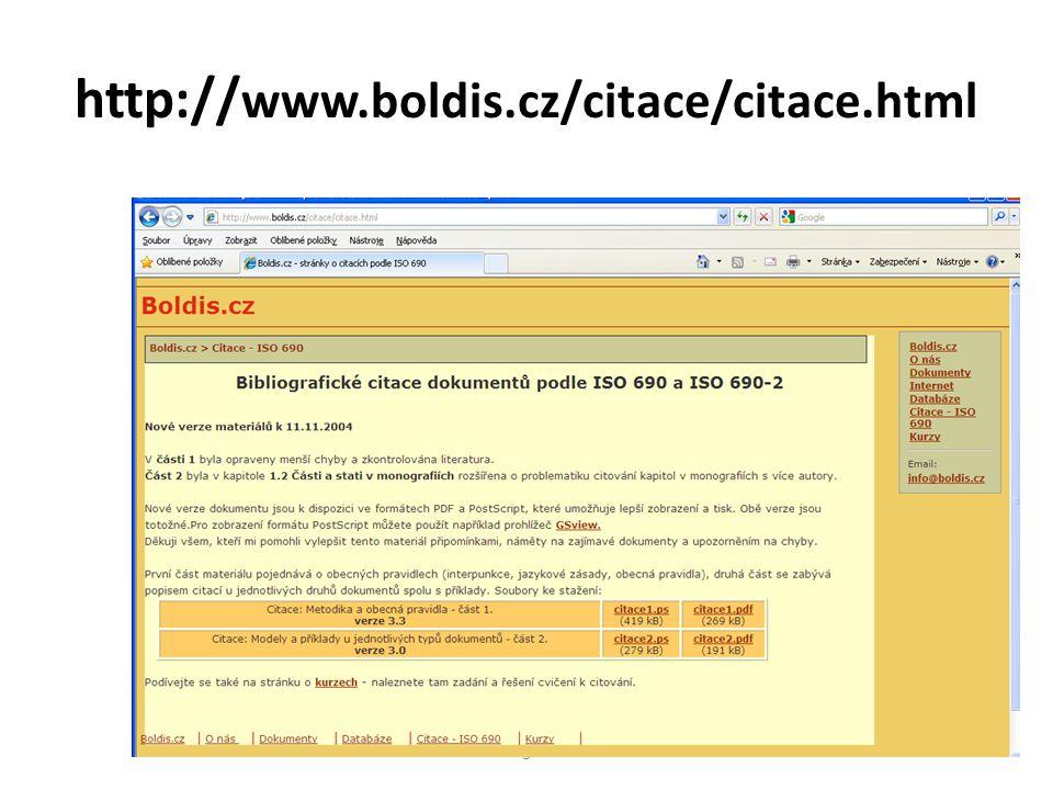 http:// www.boldis.cz/citace/citace.html 3
