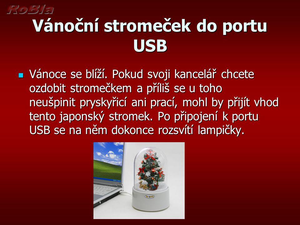 Vánoční stromeček do portu USB Vánoce se blíží.