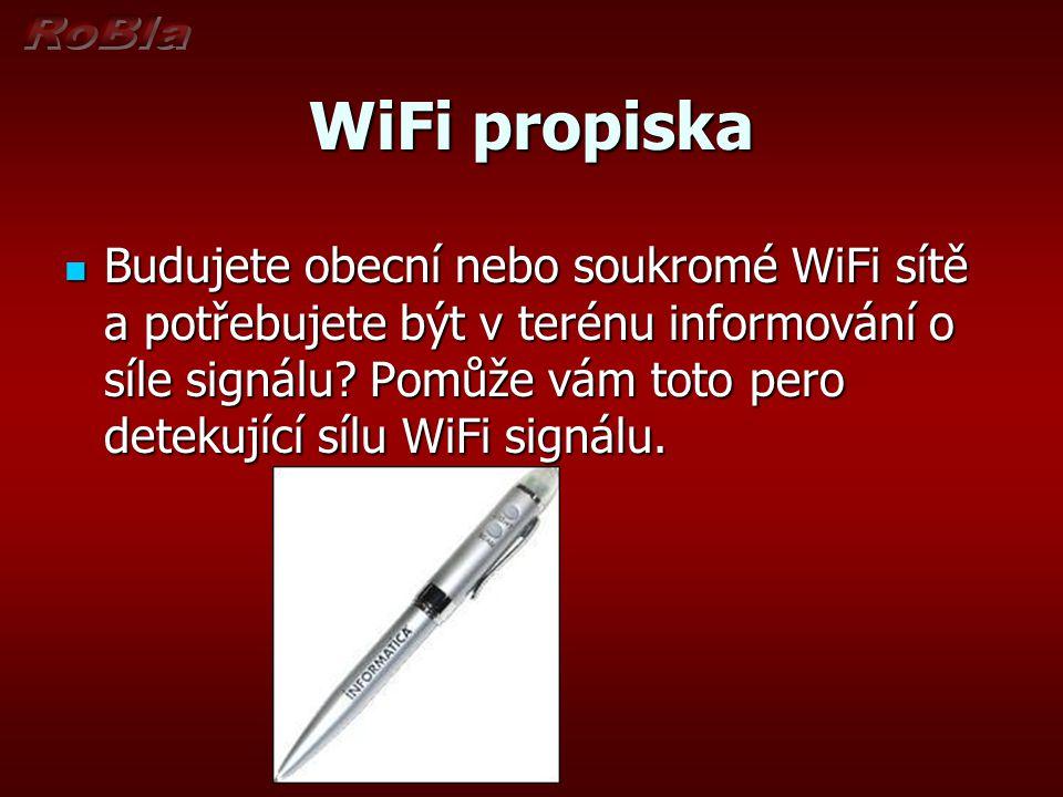 WiFi propiska Budujete obecní nebo soukromé WiFi sítě a potřebujete být v terénu informování o síle signálu.