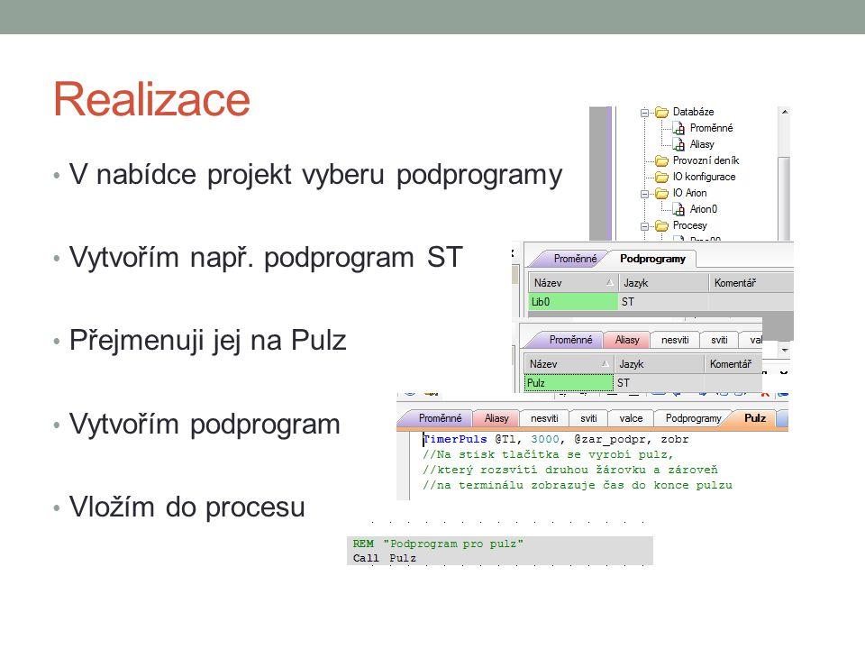 Funkční bloky DetStudio Uživatelem definovaný funkční modul Vkládáme jeho název a parametry do procesu Jazyk funkčních bloků je RS, LA, ST Vložení funkčního bloku: Projekt – Přidat do projektu – Funkční blok