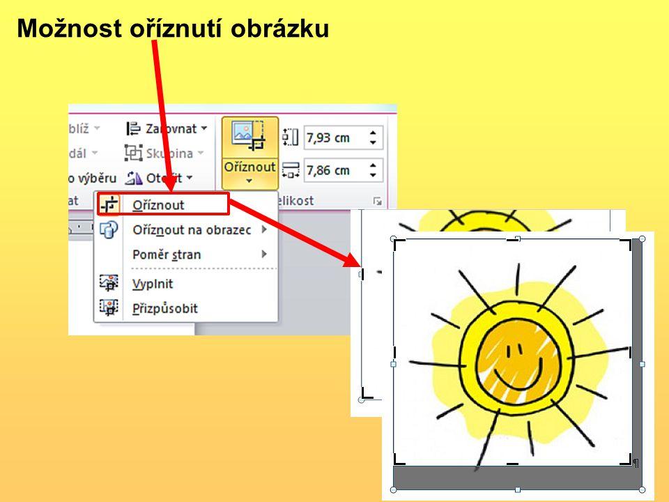 Možnost oříznutí obrázku