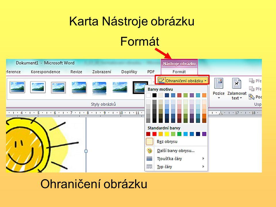 Ohraničení obrázku Karta Nástroje obrázku Formát