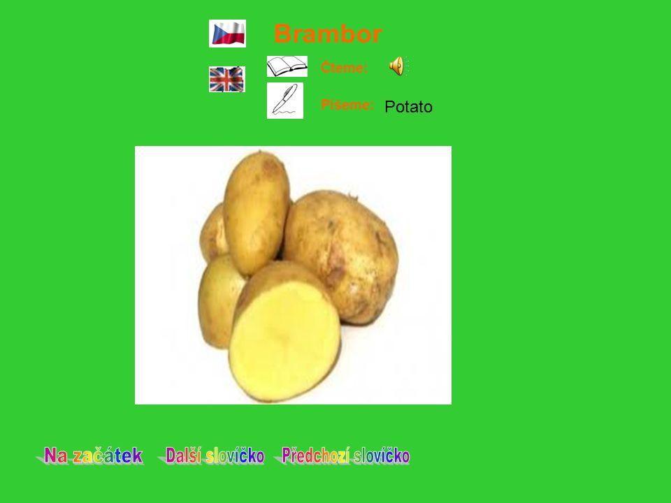 Hruška Čteme: Píšeme: Pear
