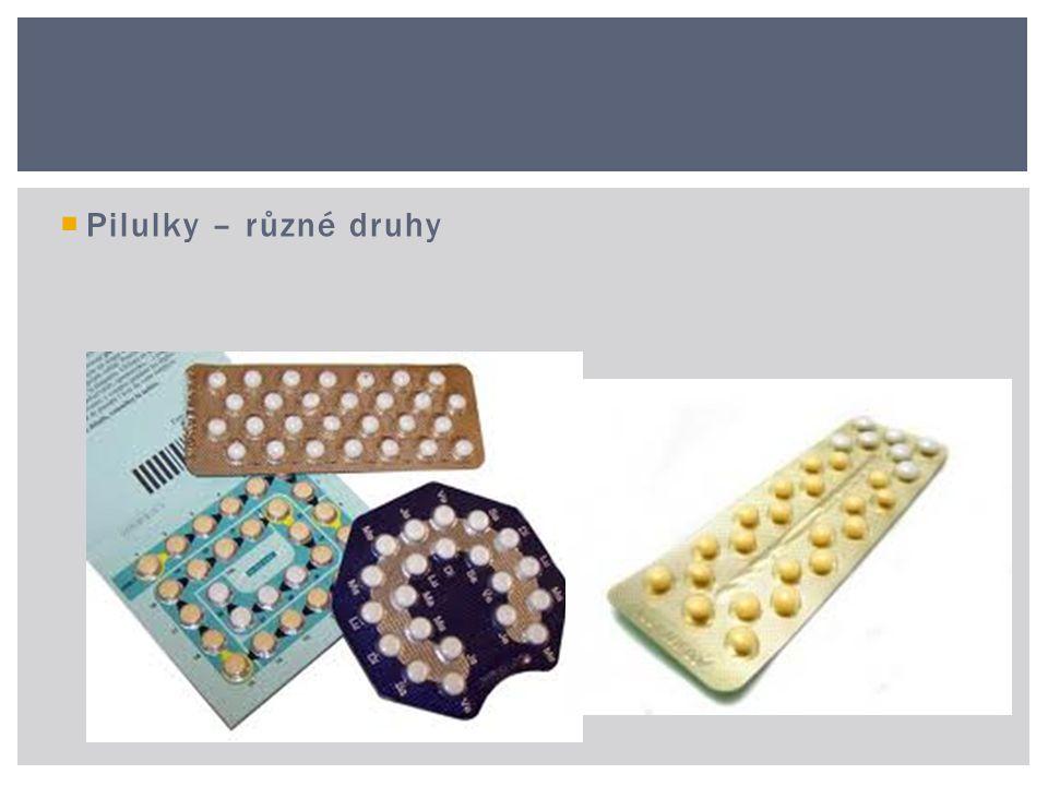  Pilulky – různé druhy