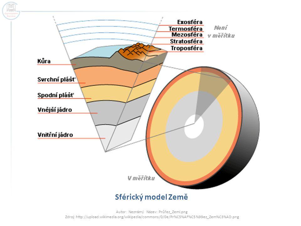 Sférický model Země Autor: Neznámý Název: Průřez_Zemí.png Zdroj: http://upload.wikimedia.org/wikipedia/commons/0/0e/Pr%C5%AF%C5%99ez_Zem%C3%AD.png