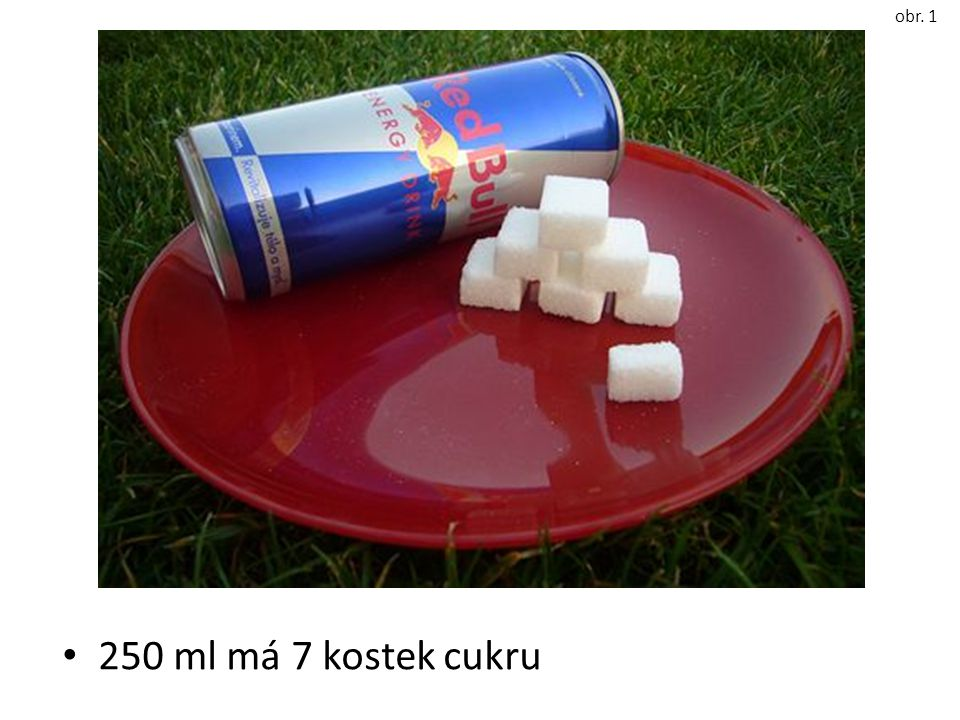 250 ml má 7 kostek cukru obr. 1