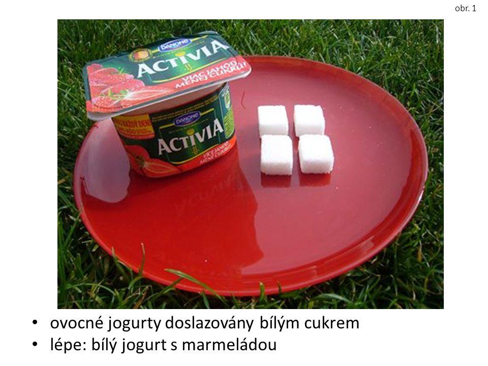 ovocné jogurty doslazovány bílým cukrem lépe: bílý jogurt s marmeládou obr. 1