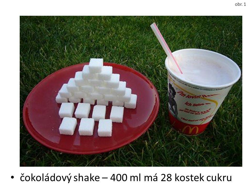 čokoládový shake – 400 ml má 28 kostek cukru obr. 1