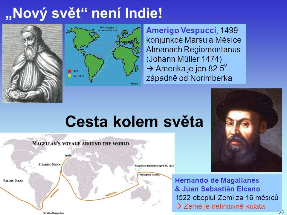 J. Bajer, UP Olomouc 201022 Hernando de Magallanes & Juan Sebastián Elcano 1522 obeplul Zemi za 16 měsíců  Země je definitivně kulatá Amerigo Vespucc