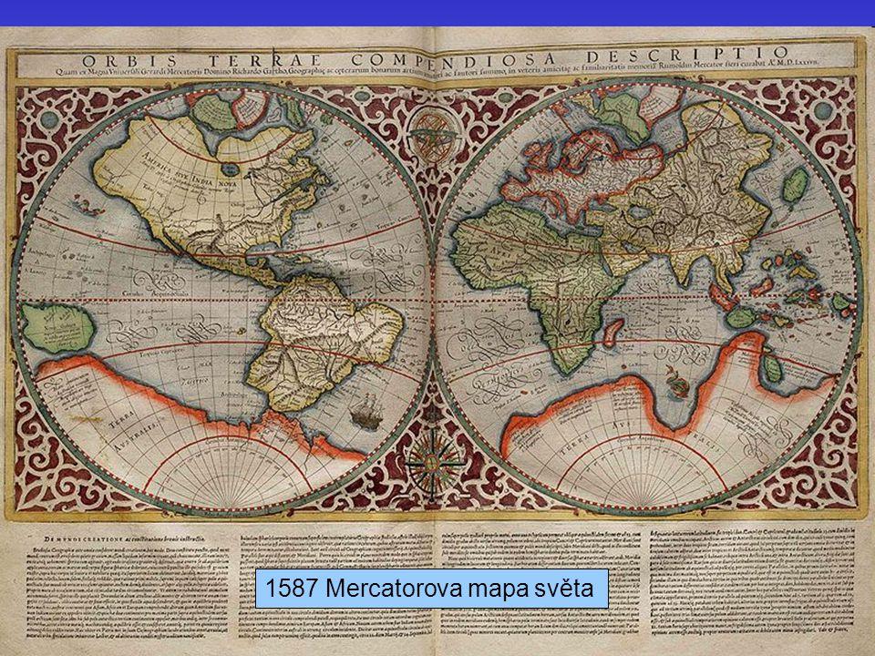 J. Bajer, UP Olomouc 201026 1587 Mercatorova mapa světa