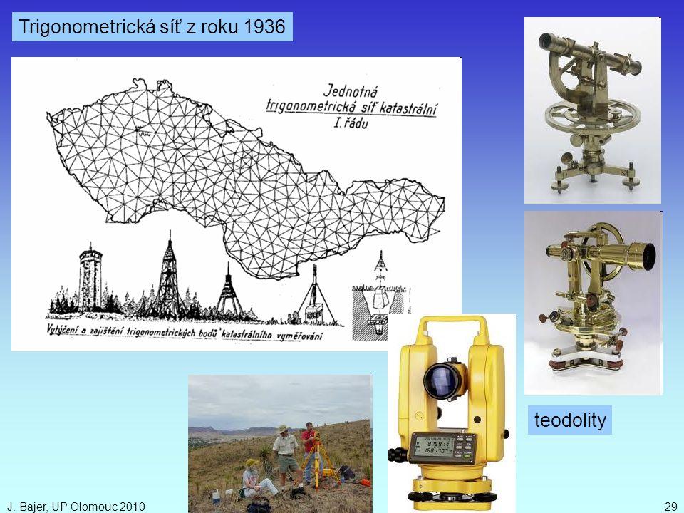 J. Bajer, UP Olomouc 201029 Trigonometrická síť z roku 1936 teodolity