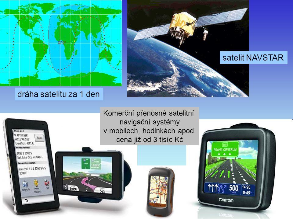 J. Bajer, UP Olomouc 201041 dráha satelitu za 1 den satelit NAVSTAR Komerční přenosné satelitní navigační systémy v mobilech, hodinkách apod. cena již