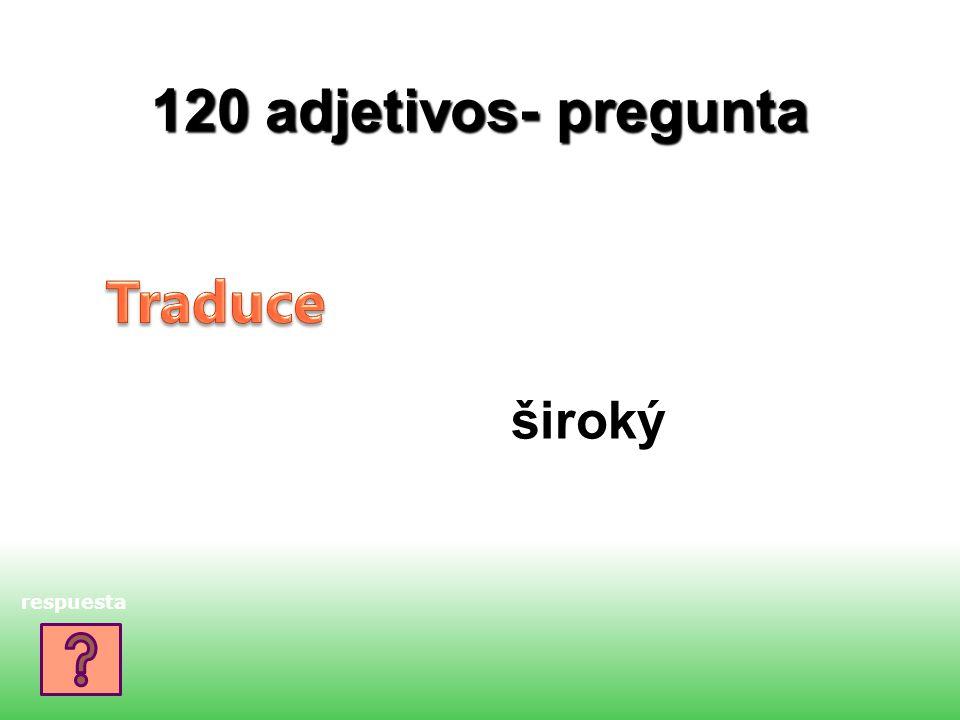 120 adjetivos- pregunta široký respuesta